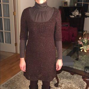 Brown heather sweater dress